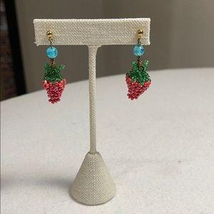 V & R Mackenzie-Childs Emprise Strawberry Earrings